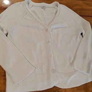 🌵J. Jill white cotton cardigan size medium